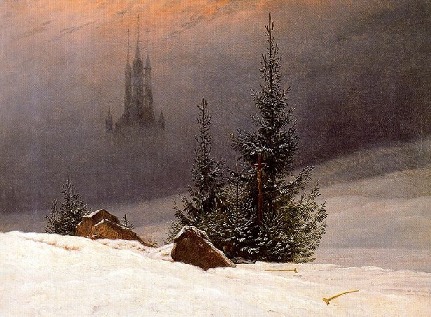 """Winter Landscape with Church"". Caspar David Friedrich. 1811"