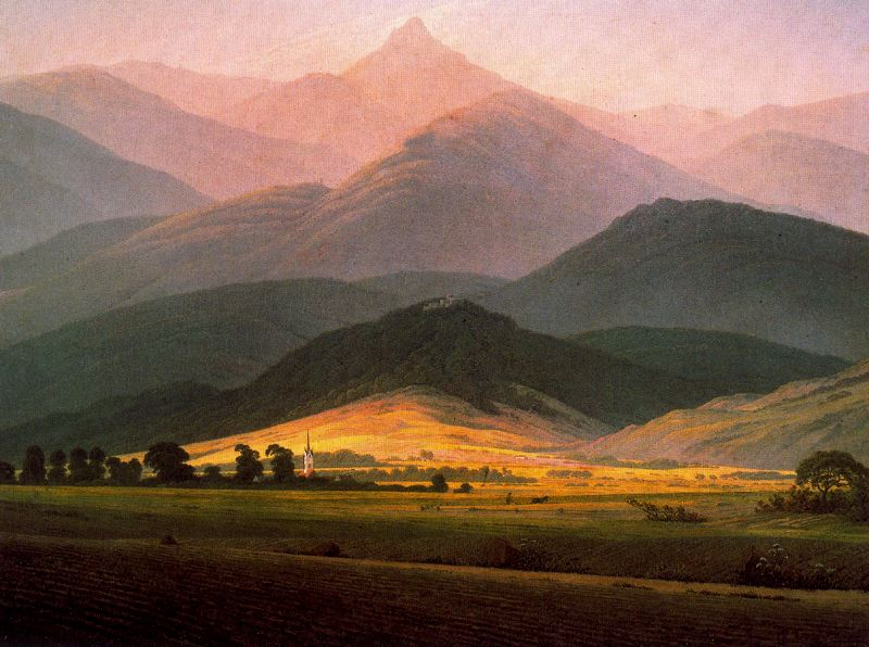 Caspar David Friedrich. Landscape in the Riessengebirge. 1810