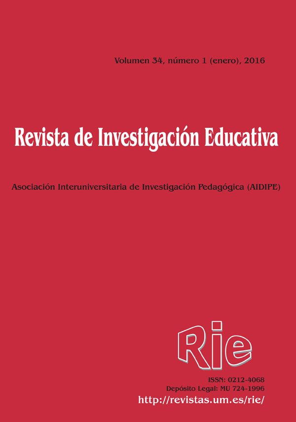 Revista de Investigación Educativa Volumen 34 (1), 2016.