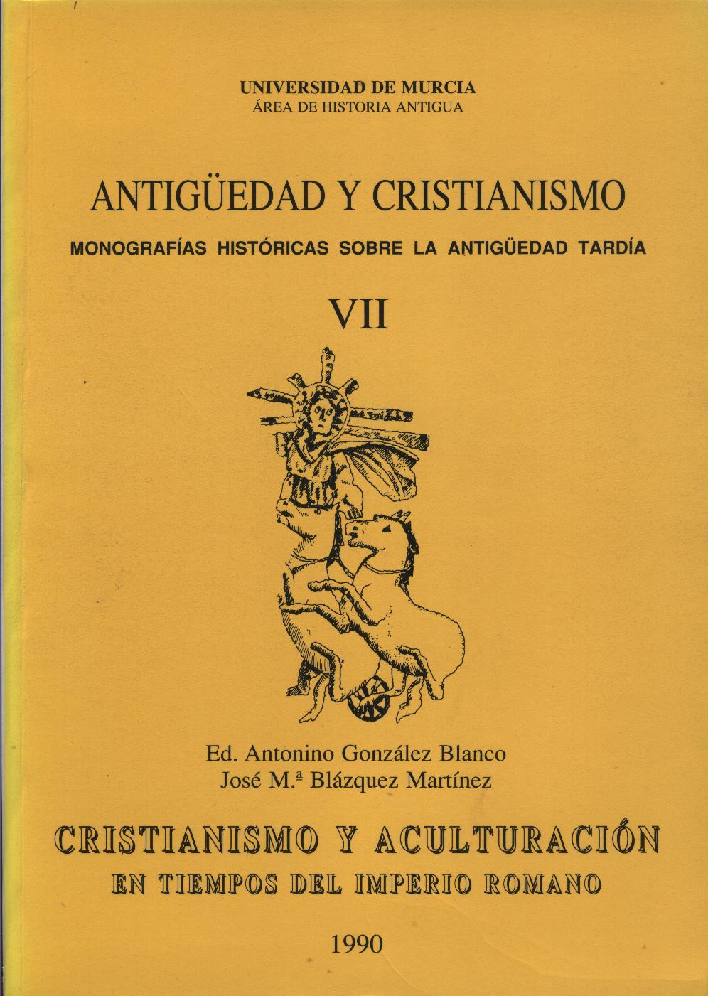 Ver Núm. 7 (1990): Cristianismo y Aculturación en tiempos del Imperio Romano