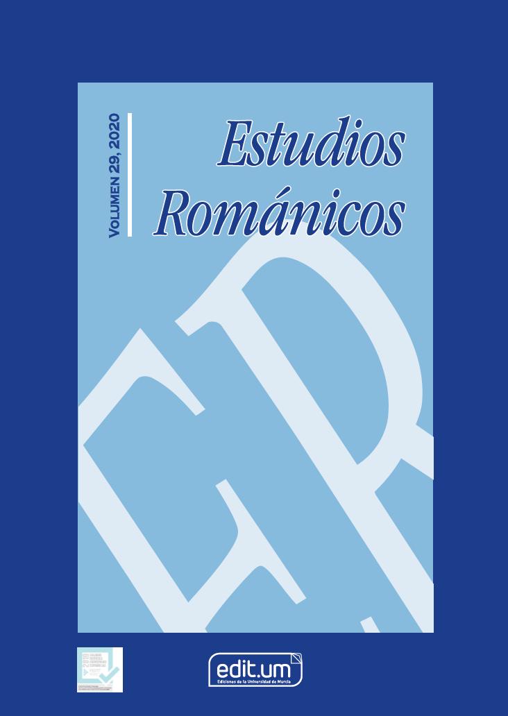Portada Volumen 29 de Estudios Románicos