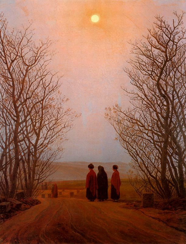 Caspar David Friedrich. Easter Morning. 1833