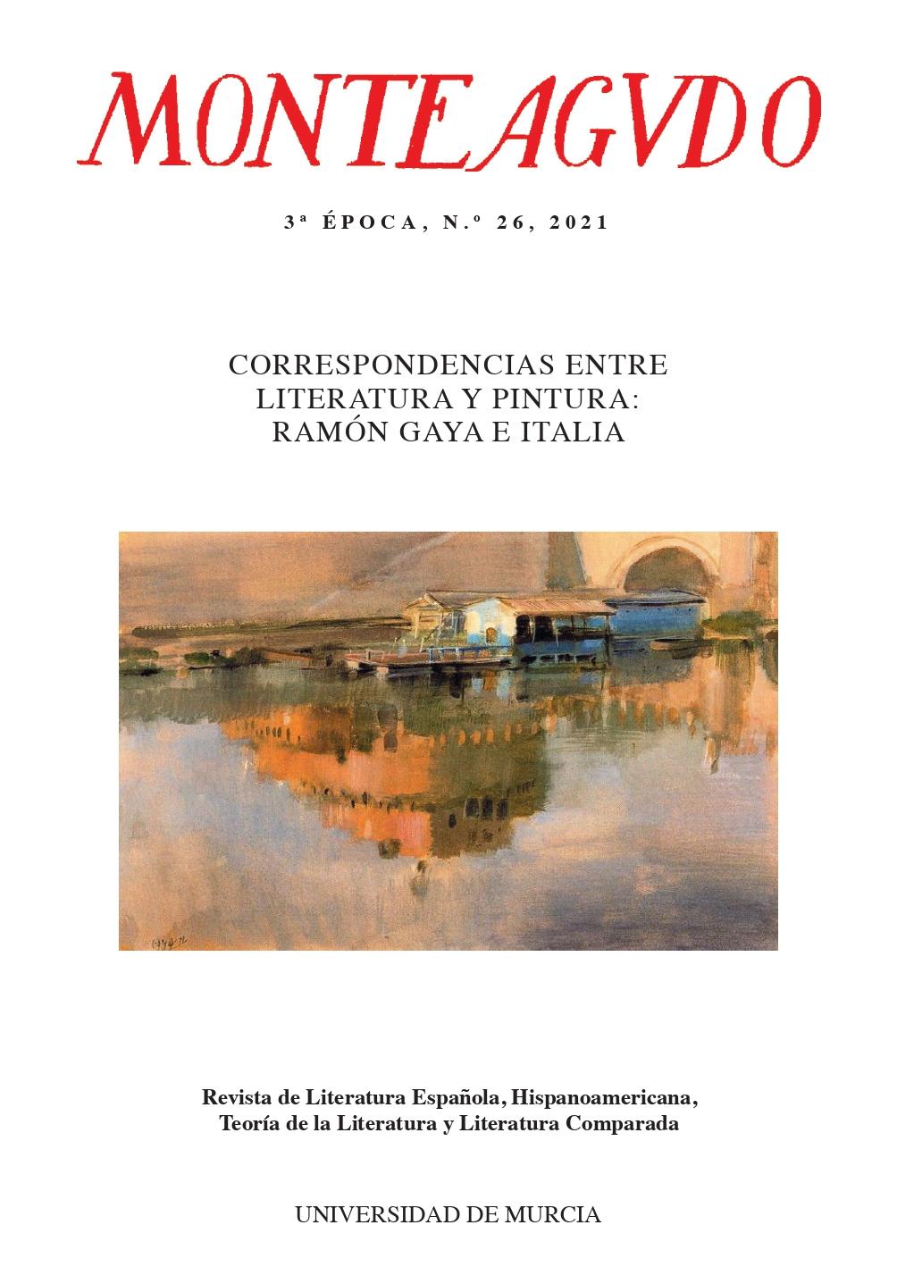 Ver Núm. 26 (2021): Correspondencias entre literatura y pintura: Ramón Gaya e Italia