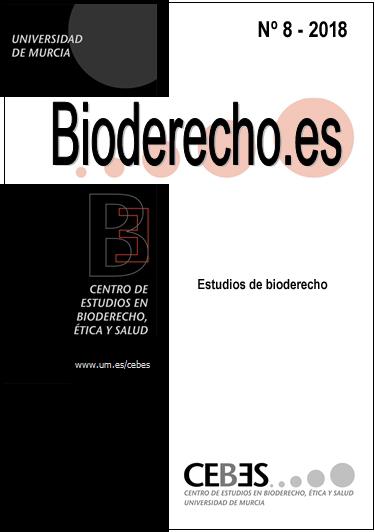 Ver Núm. 8 (2018): Estudios de bioderecho