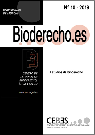 Ver Núm. 10 (2019): Estudios de Bioderecho