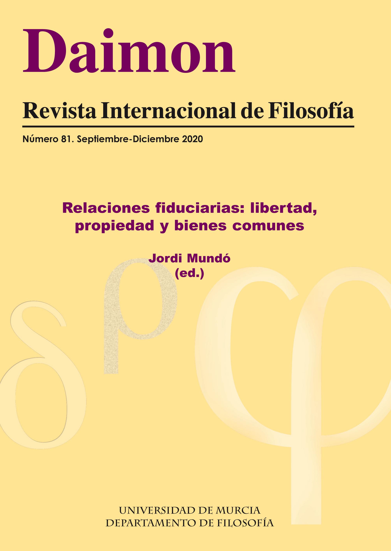 Ver Núm. 81 (2020): Relaciones fiduciarias: libertad, propiedad y bienes comunes